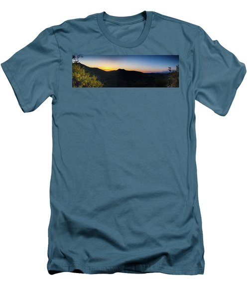 Men's T-Shirt (Slim Fit) featuring the photograph Mountains At Sunset by Ed Cilley