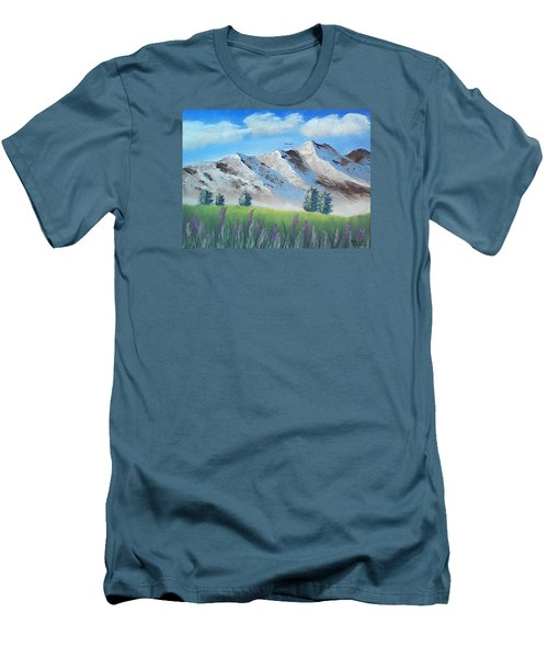 Mountains Men's T-Shirt (Slim Fit) by Brenda Bonfield