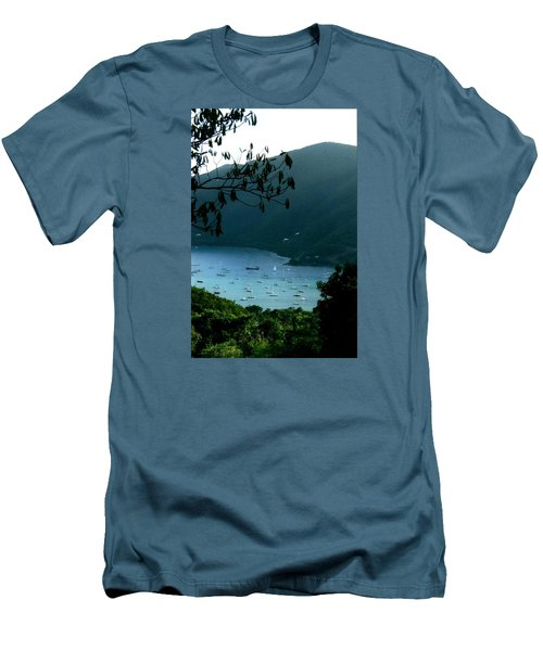 Mountainside Coral Bay Men's T-Shirt (Slim Fit) by Robert Nickologianis