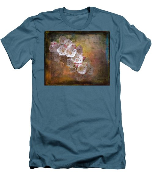 Mountain Laurel Men's T-Shirt (Slim Fit) by Bellesouth Studio