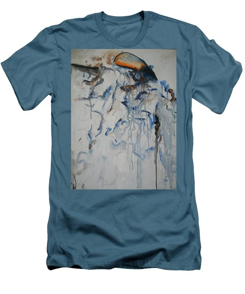 Men's T-Shirt (Slim Fit) featuring the painting Moving Forward by Raymond Doward