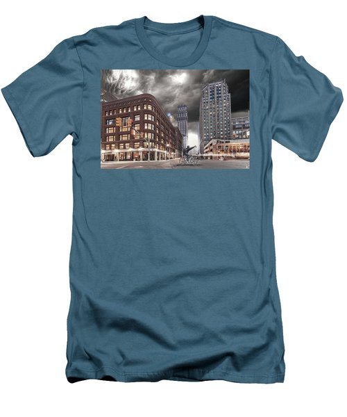 Men's T-Shirt (Slim Fit) featuring the photograph Mr. Jason Hall 2015 by Nicholas  Grunas
