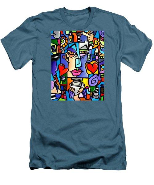 Mr Roboto Men's T-Shirt (Slim Fit) by Tom Fedro - Fidostudio
