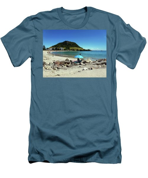 Mt Maunganui Beach 5 - Tauranga New Zealand Men's T-Shirt (Slim Fit) by Selena Boron