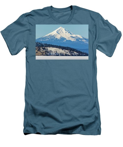 Men's T-Shirt (Slim Fit) featuring the photograph Mt. Mcloughlin by Marc Crumpler