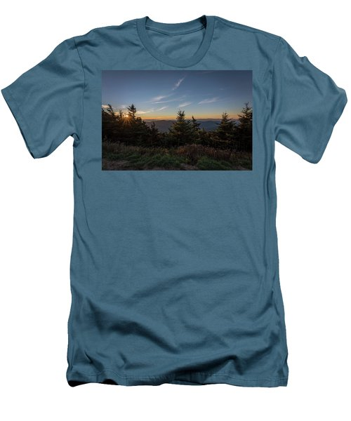 Men's T-Shirt (Slim Fit) featuring the photograph Mt Mitchell Sunset North Carolina 2016 by Terry DeLuco