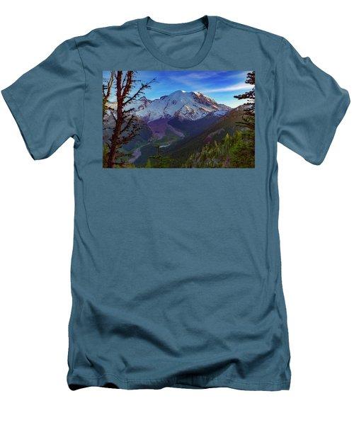 Mt Rainier At Emmons Glacier Men's T-Shirt (Slim Fit)
