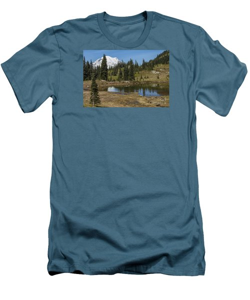 Mt Rainier Reflection Landscape Men's T-Shirt (Athletic Fit)