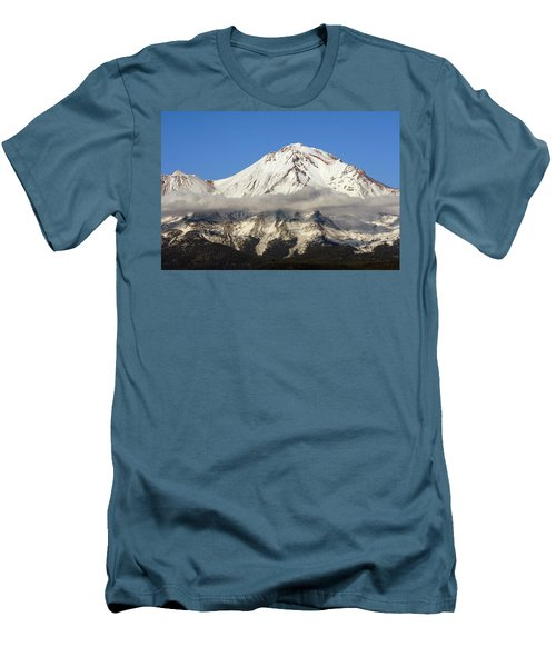 Men's T-Shirt (Slim Fit) featuring the photograph Mt. Shasta Summit by Holly Ethan