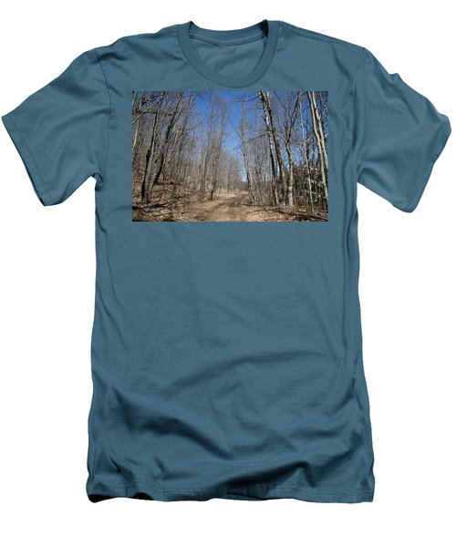Men's T-Shirt (Slim Fit) featuring the photograph Mud Season In The Adirondacks by David Patterson