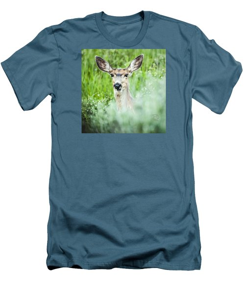 Men's T-Shirt (Slim Fit) featuring the photograph Muley Mule Deer by Daniel Hebard