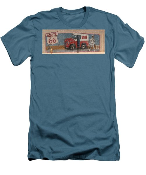 Mural On Historic Route 66 Men's T-Shirt (Athletic Fit)