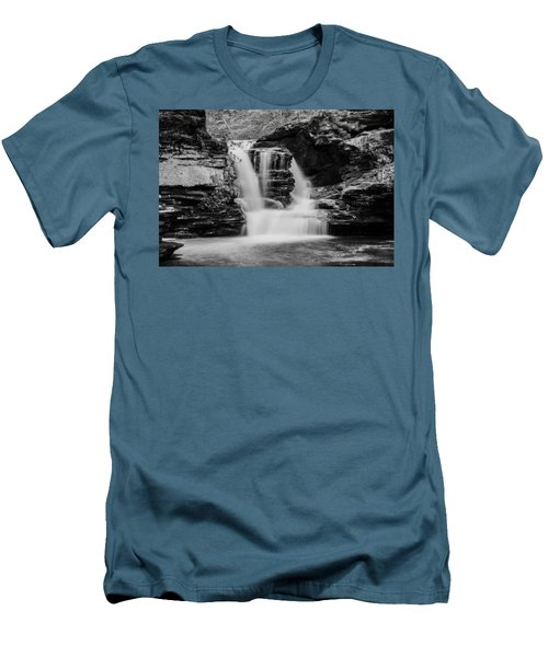 Men's T-Shirt (Slim Fit) featuring the photograph Murray Reynolds Falls - 8557 by G L Sarti