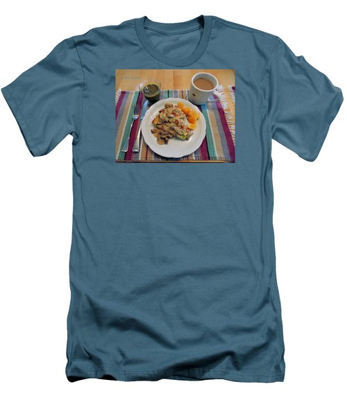 Mushroom Gravy Over Breakfast Quiche  Men's T-Shirt (Athletic Fit)