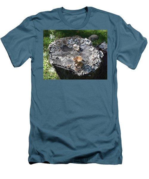 Men's T-Shirt (Slim Fit) featuring the photograph Mushroom Stump by R  Allen Swezey