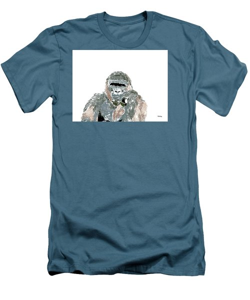 Men's T-Shirt (Slim Fit) featuring the digital art Music Notes 23 by David Bridburg