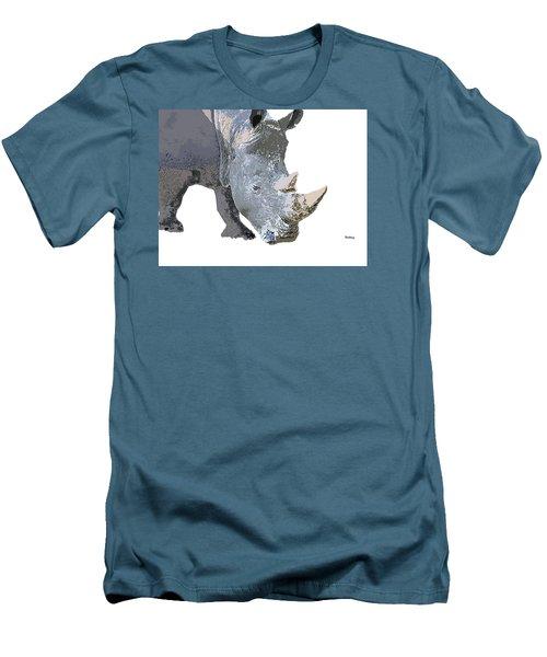 Men's T-Shirt (Slim Fit) featuring the digital art Music Notes 24 by David Bridburg