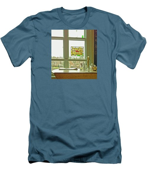 Men's T-Shirt (Athletic Fit) featuring the photograph My Favourite Cafe by Anne Kotan