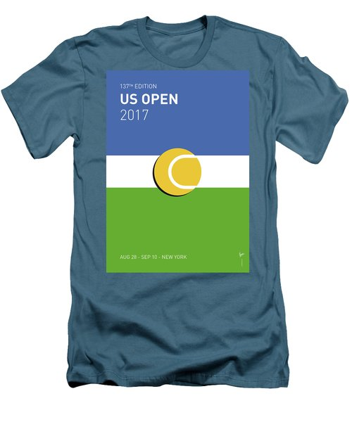 Men's T-Shirt (Slim Fit) featuring the digital art My Grand Slam 04 Us Open 2017 Minimal Poster by Chungkong Art