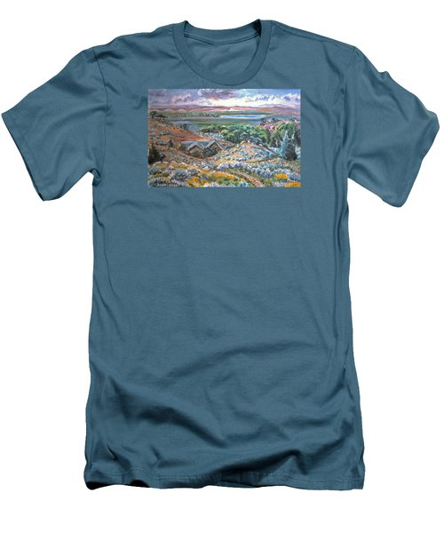 Men's T-Shirt (Slim Fit) featuring the painting My Home Looking West by Dawn Senior-Trask