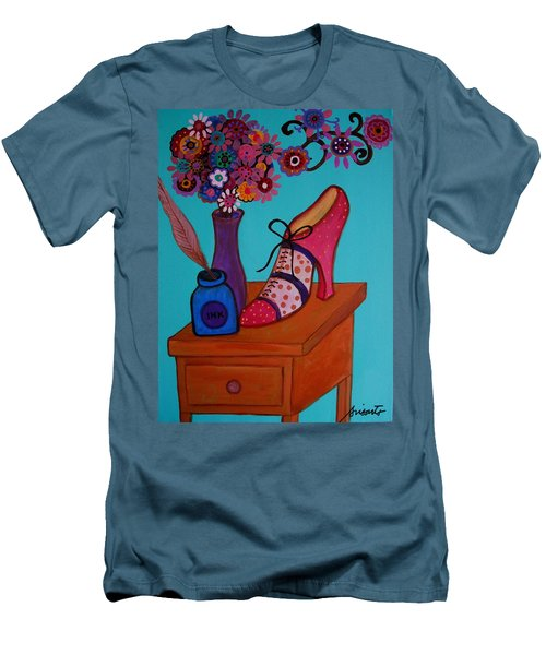 Men's T-Shirt (Slim Fit) featuring the painting My Love by Pristine Cartera Turkus