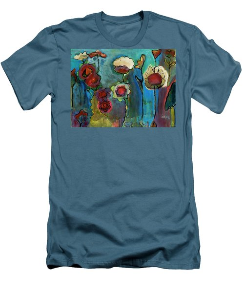 Men's T-Shirt (Slim Fit) featuring the painting My Mother's Garden by Susan Stone