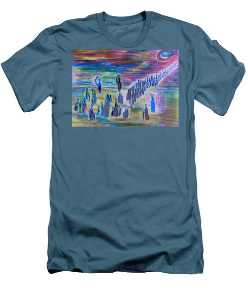 Men's T-Shirt (Athletic Fit) featuring the drawing My People by Vadim Levin