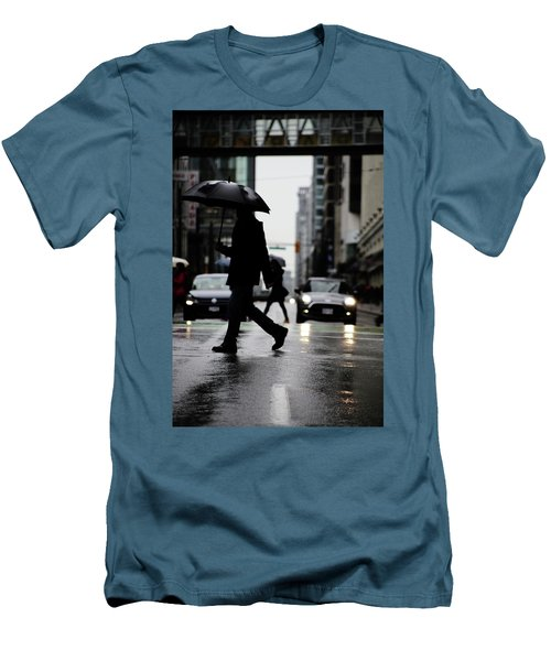 Men's T-Shirt (Slim Fit) featuring the photograph My World Hers Two by Empty Wall