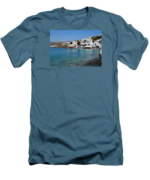 Mykonos Beach Men's T-Shirt (Athletic Fit)