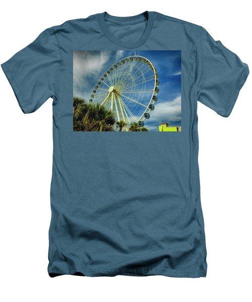 Myrtle Beach Skywheel Men's T-Shirt (Slim Fit) by Bill Barber