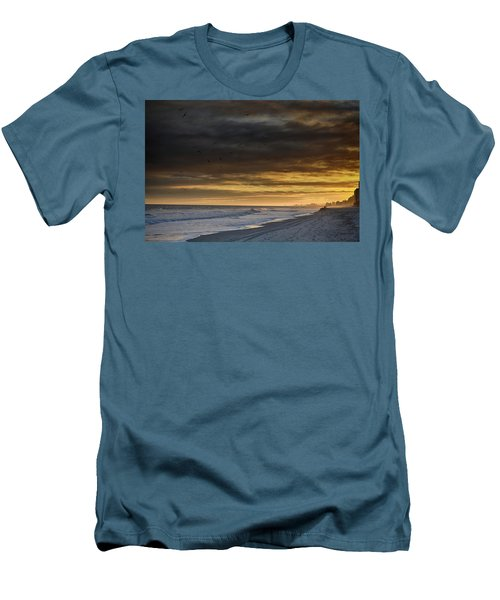 Men's T-Shirt (Slim Fit) featuring the photograph Mysterious Myrtle Beach by Kelly Reber