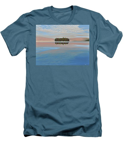 Men's T-Shirt (Slim Fit) featuring the painting Mystic Island by Kenneth M  Kirsch