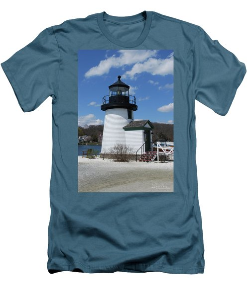 Mystic Lighthouse Men's T-Shirt (Slim Fit) by Gordon Mooneyhan