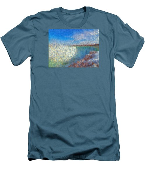 Men's T-Shirt (Slim Fit) featuring the painting Nagara Falls Point Of View by Mario Carini
