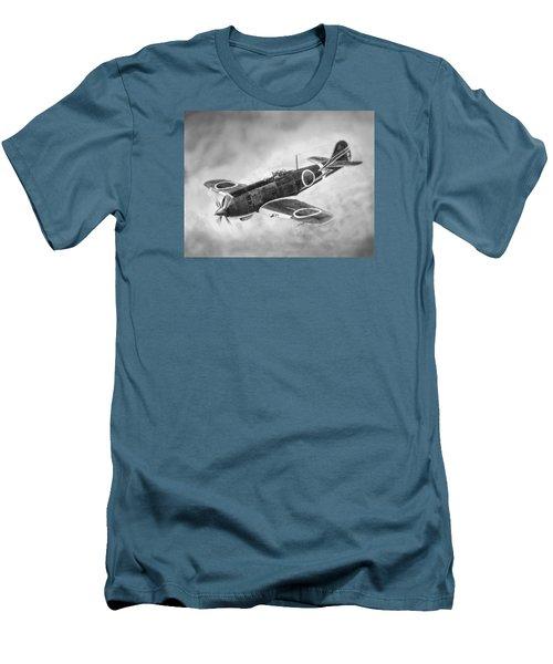 Nakajima Ki84 Men's T-Shirt (Slim Fit) by Douglas Castleman