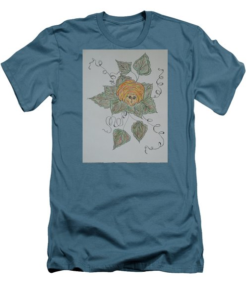 Men's T-Shirt (Slim Fit) featuring the drawing Nana Rose Is Here by Sharyn Winters