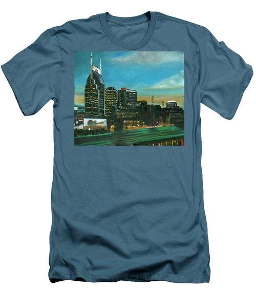 Nashville At Dusk Men's T-Shirt (Athletic Fit)