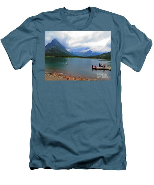 National Parks. Serenity Of Mcdonald Men's T-Shirt (Slim Fit) by Ausra Huntington nee Paulauskaite