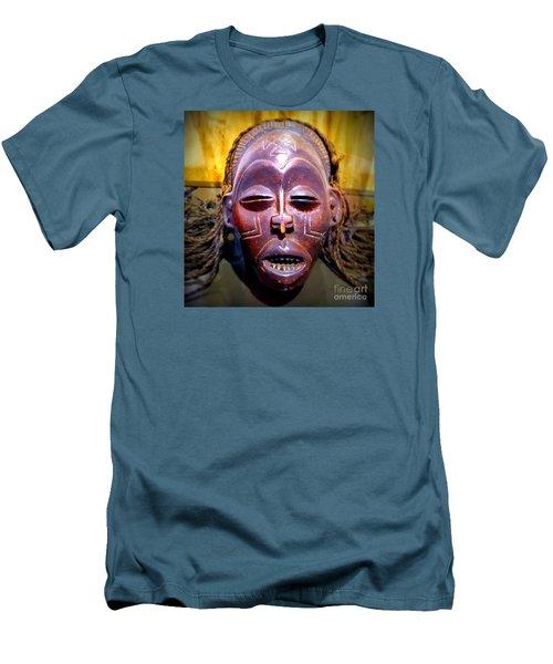 Native Mask Men's T-Shirt (Slim Fit) by John Potts