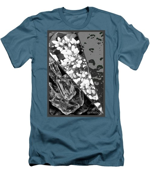 Nature Collage In Black And White Men's T-Shirt (Athletic Fit)