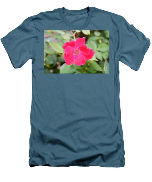 Men's T-Shirt (Slim Fit) featuring the photograph Nature - Colorful Flower Gifts  by Ray Shrewsberry