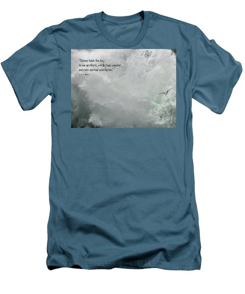 Men's T-Shirt (Athletic Fit) featuring the photograph Nature Holds The Key by Peggy Hughes