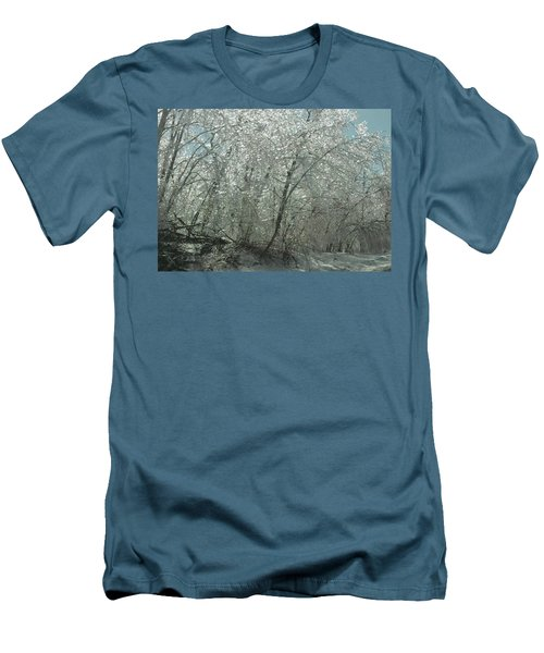 Men's T-Shirt (Slim Fit) featuring the photograph Nature's Frosting by Ellen Levinson