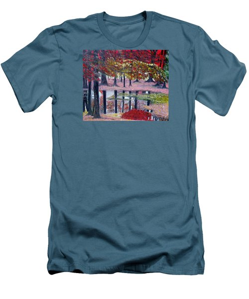 Men's T-Shirt (Slim Fit) featuring the painting Natures Painting by Marilyn  McNish