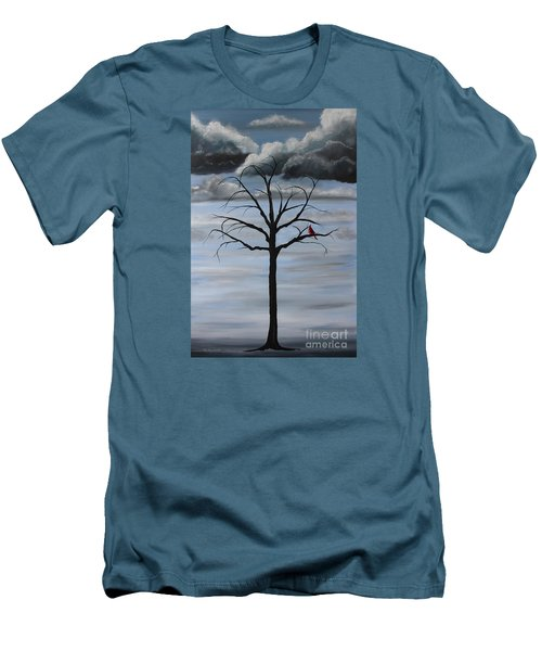 Men's T-Shirt (Slim Fit) featuring the painting Nature's Power by Stacey Zimmerman