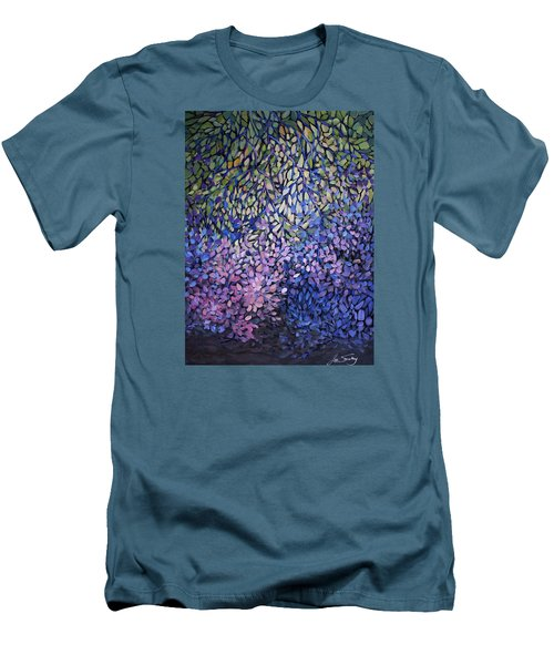 Natures Stain Glass Symphony Men's T-Shirt (Slim Fit) by Joanne Smoley