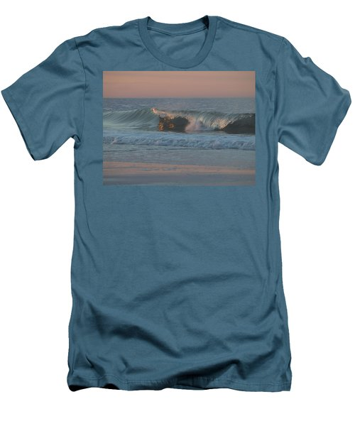 Men's T-Shirt (Slim Fit) featuring the photograph Natures Wave by  Newwwman