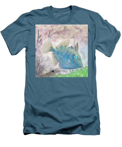 Men's T-Shirt (Slim Fit) featuring the photograph Nautical Beach And Fish #2 by Debra and Dave Vanderlaan