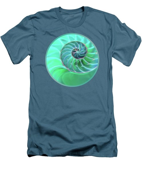 Nautilus Aqua Spiral Men's T-Shirt (Athletic Fit)