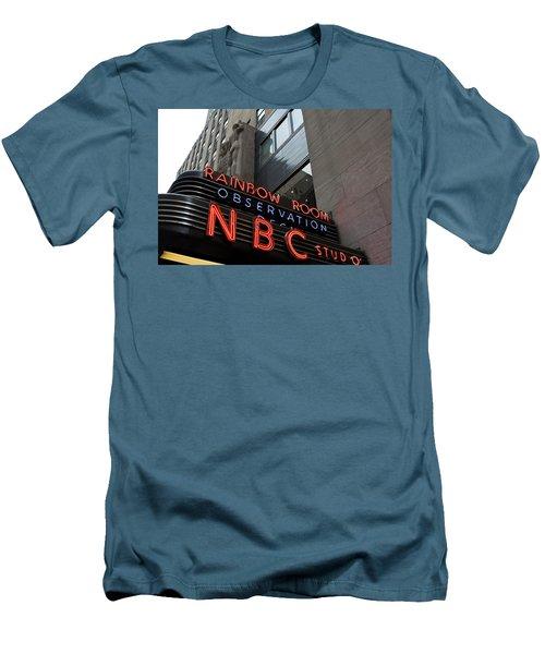Nbc Studio Rainbow Room Sign Men's T-Shirt (Athletic Fit)